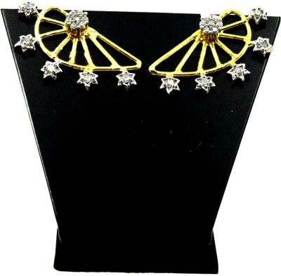 Bharat Sales New Or Pretty Looking Made With Cz Stones Cubic Zirconia Alloy Cuff Earring