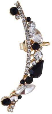 Fayon Party Style Diva Black & White Rhinestone Pretty Crystal Alloy Cuff Earring