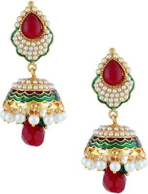 Gold & More Ethinic Jhumki Pearl Copper Jhumki Earring