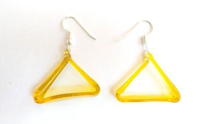 SrinidhiHandiCreations SHC Glassy Glass Dangle Earring