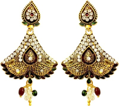 Fashion Frill Antique Metal Drop Earring