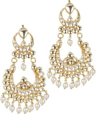 Mehtaphor Mudra_2 Crystal Brass Chandbali Earring