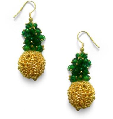 Abhika Jewels Dewy Fresh Brass Dangle Earring