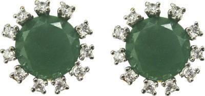 Rishab International Grn Ern Brass Stud Earring