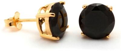 Voylla Precious Classic Plain Cubic Zirconia Sterling Silver Stud Earring