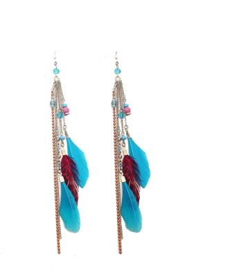 Galz4ever Charming Drop Feather Metal Dangle Earring