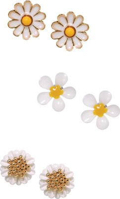 Sparkle Street Darling Daisy Studs Alloy Earring Set