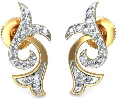 Joyra Resplendent Swarovski Zirconia Sterling Silver Stud Earring