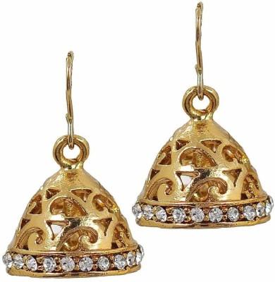 the jewelbox Dainty Filigree Copper Jhumki Earring