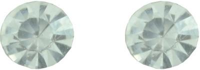 Diovanni Single Stone Stud White Crystal, Alloy Stud Earring