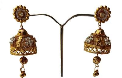 modifier GOLDEN QUEEN Crystal Alloy Jhumki Earring