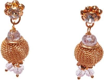 PFJ PFJ3038-EARRING Cubic Zirconia Brass, Copper Drop Earring
