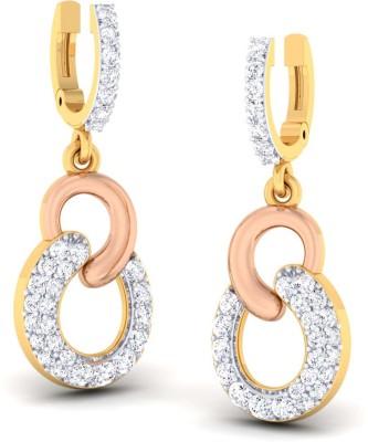 ORNOMART framing victory Diamond Metal Hoop Earring