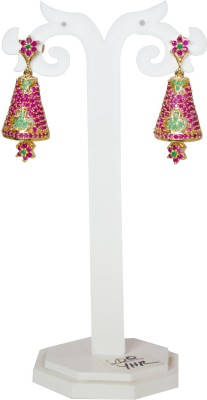 Jewelgrab Sai Ruby Emerald Alloy Jhumki Earring