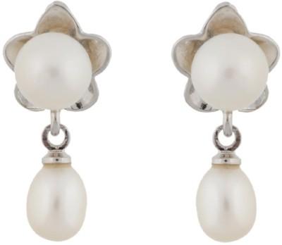 Classique Designer Jewellery Flower Shape Pearl Alloy Drop Earring