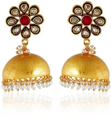 Royal Bling Magnificial golden Copper Jhumki Earring