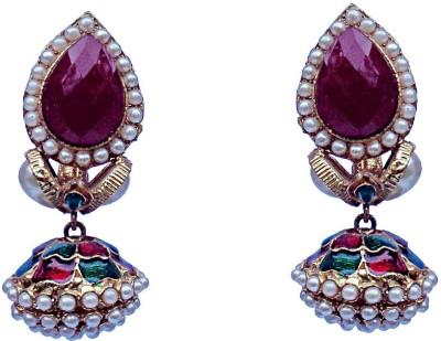 Kundaan Indian Style Crystal Copper, Brass Jhumki Earring