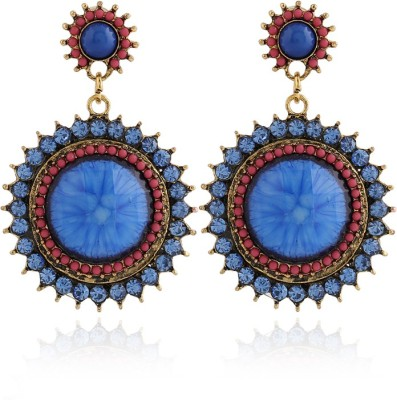 Insia Zurie Bleu Alloy Drop Earring