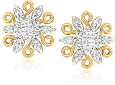 Forevercarat Fern Diamond Silver Stud Earring