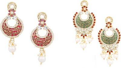 SIDDH Royal Rajasthani Combo Earrings- 1319-RMG Alloy Drop Earring