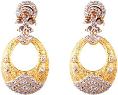 Dipshi New Style Partywear Beautiful Fancy Antique A D Stone For Copper Drop Earring