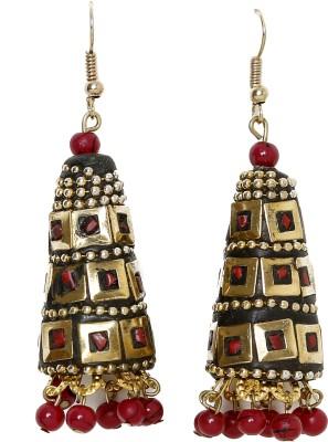 UV Instyle Women's Golden Danglers Alloy Jhumki Earring