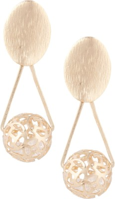 Castle Street Gold & Crystals Alloy Drop Earring