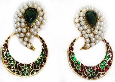 SB Fashions Green pearl earring Brass Earring Set