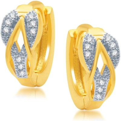 Sukkhi Intricately Micro Pave Cubic Zirconia Alloy Hoop Earring