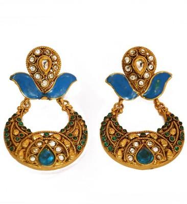 PFJ PFJ3003 Brass, Copper Chandbali Earring