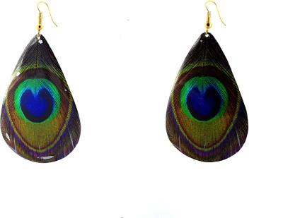 Zidox Peacock drops Brass Dangle Earring