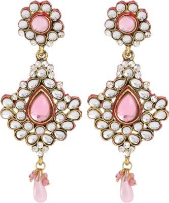 Maisha Pink Festive Traditional Alloy Drop Earring
