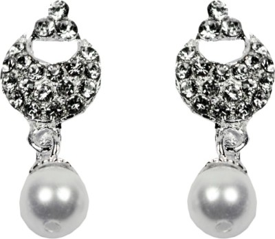 Percias Percias Chand Bali Drop with Pearl Brass Drop Earring