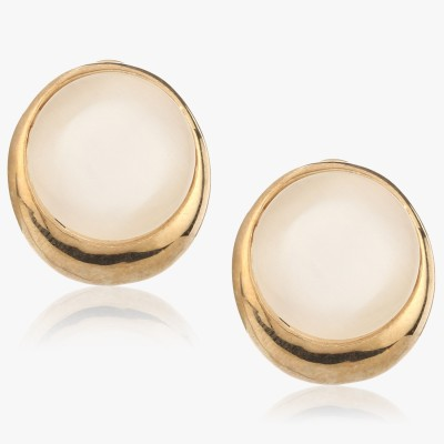Shamoda Classic Round Mother Of Pearl Metal Stud Earring