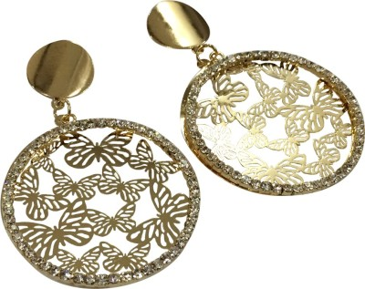 Gliteri round cutwork Alloy Drop Earring