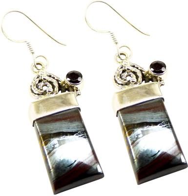Miska Silver Beautiful Garnet Silver Dangle Earring