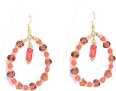 Galz4ever Glass seed bead round earring Metal, Glass Dangle Earring
