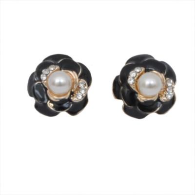 WoW Black Resin Alloy Stud Earring