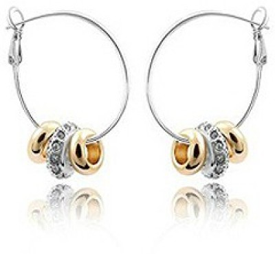 Silver Shoppee Circles Of Hope Cubic Zirconia Metal Hoop Earring