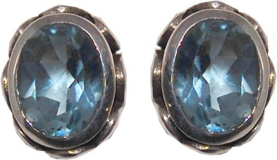 Arvino Single Stone Studded Topaz Sterling Silver Stud Earring