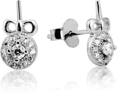 Jewel99 Terrato Swarovski Zirconia Sterling Silver Stud Earring