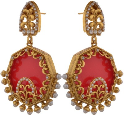 Sixmeter Sixmeter Jewels Red Copper Dangle & Drop Earrings For Women (Mj-Er-309) Alloy Earring Set