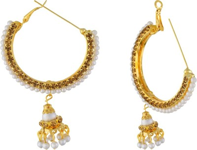 One Stop Fashion Stylish and Designer Gold Plated and Pearl Earrings Alloy Drop Earring