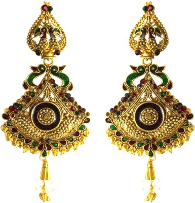 Fashion Frill Antique Mayur Alloy Drop Earring