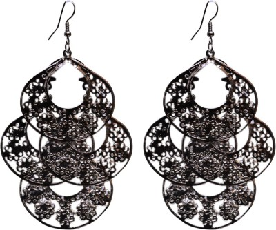 Gracent Antique Black Moon Style Hangings Alloy Chandbali Earring