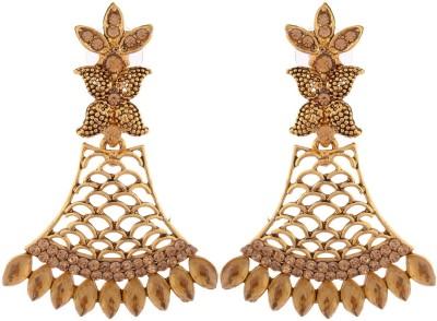 Grandiose Bajirao Mastani Deepika Padukone Inspired Golden Copper Drop Earring