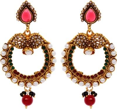 Rays 842807151 Pearl, Crystal Copper, Zinc Drop Earring
