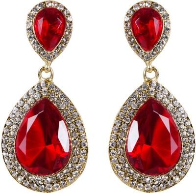 Grand Jewels Double Stone Alloy Huggie Earring