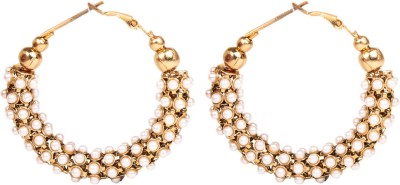 Arum Arum Golden with Pearl Style Diva fashion earrings Alloy Earring Set