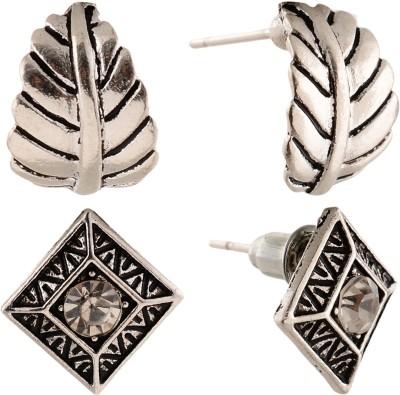 Anokhi Ada Rhombii and Leaf Metal Stud Earring